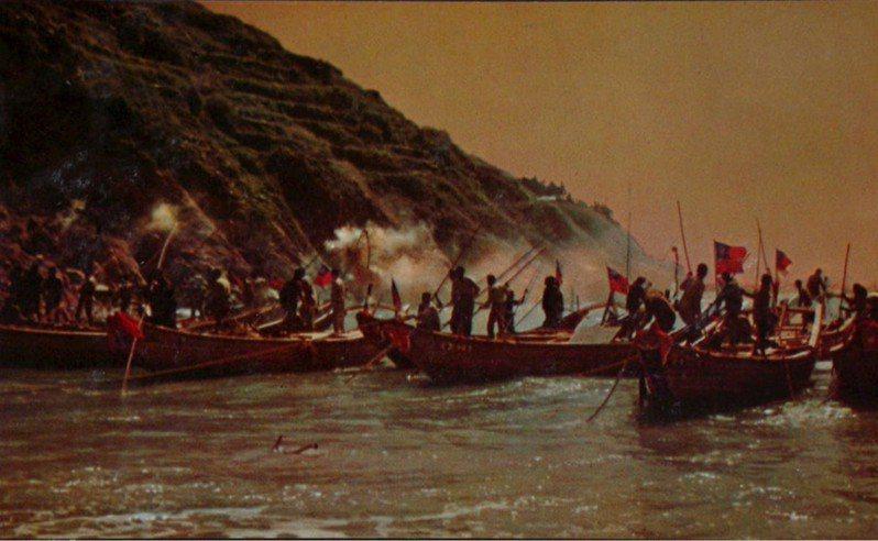 早期馬祖漁民捕撈工作盛況。(圖/國立臺灣歷史博物館提供)
