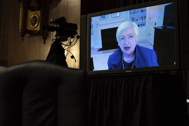 美國財政部長提名人葉倫,19日以視訊會議方式,參加參議院金融委員會任命聽證。   美聯社
