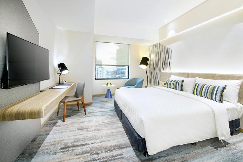 趣淘漫旅台北探索客房一大床房型。(照片提供:趣淘漫旅)