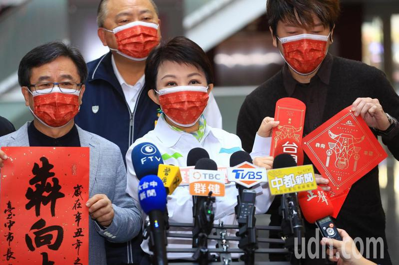 台中市政府即日起到22日發送春聯。記者陳秋雲/攝影