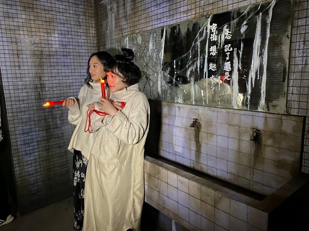 「返校」影集女主角李玲葦(右)與韓寧(左)受邀體驗「返校Detention 實境...