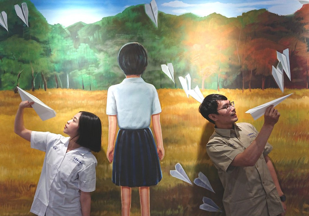 「返校Detention 實境體驗展」拍照區。圖/聯合數位文創提供