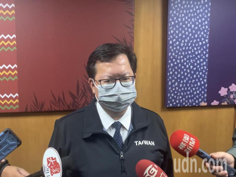 桃園市長鄭文燦宣布提高社區防疫等級,要求各大型活動都要延期或取消,避免人群聚集。記者巫鴻瑋/攝影