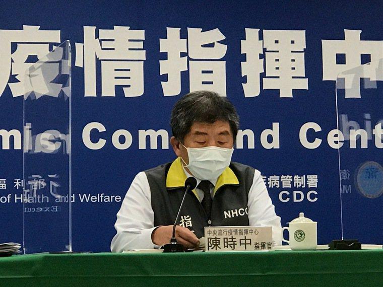 指揮中心指揮官陳時中今天坦言,台灣目前正在面臨從去年防疫至今最大挑戰。記者黃惠群...