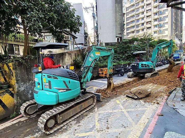欣欣瓦斯公司於日前緊急增設管線,因應民眾天然氣需求。圖/新北經發局提供
