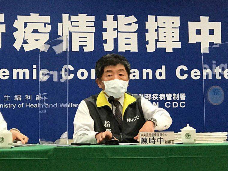 指揮中心指揮官陳時中。聯合報系資料照片,記者黃惠群/攝影