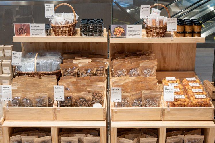 MUJI無印良品新店門市開幕,導入「聯連市」市集概念,有台灣小農直送的產品。圖/...