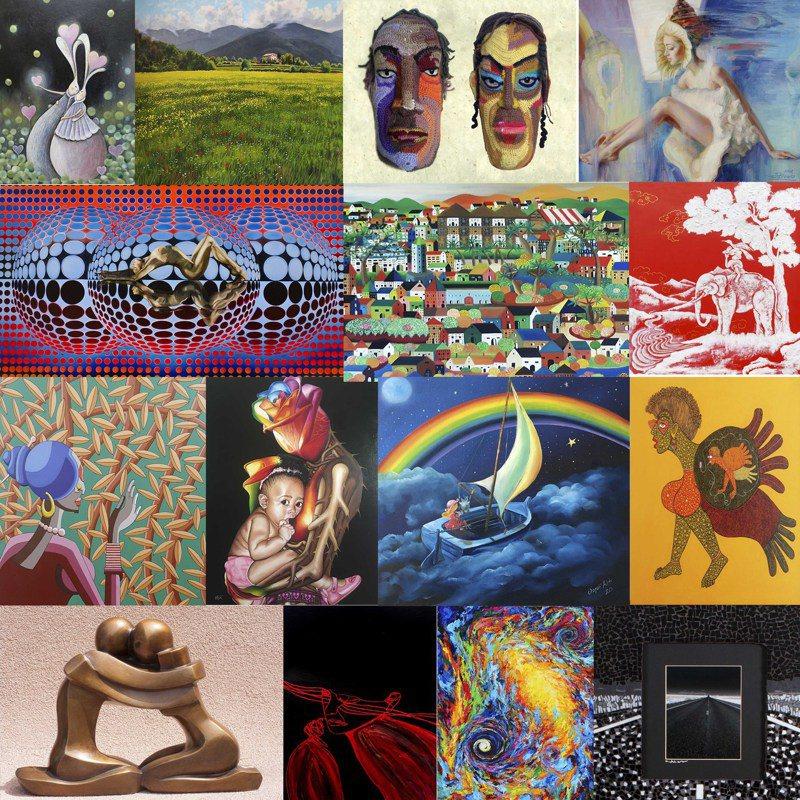 「2021國際藝術家大獎賽」入圍作品今天公布,台灣有20位藝術家入圍。 台北新藝術博覽會/提供