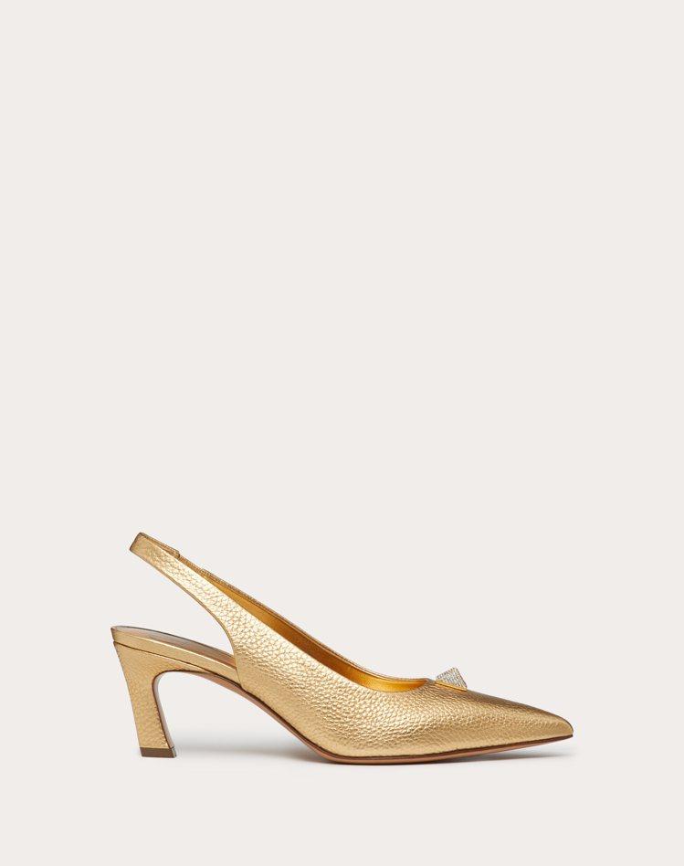 Roman Stud金色繫帶高跟鞋,32,600