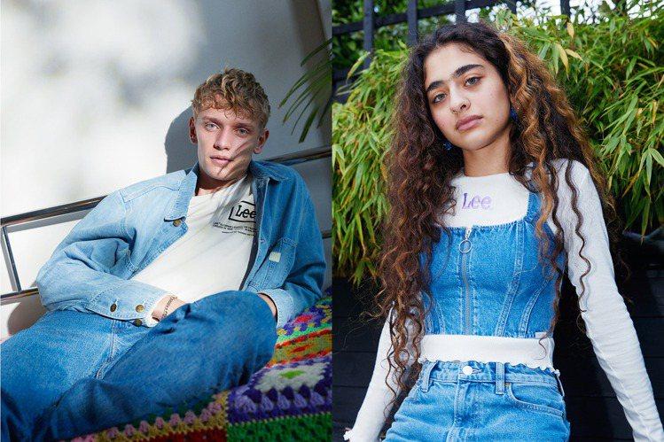 H&M首度與百年牛仔褲品牌Lee合作,符合永續發展概念,推出全新跨界系列。圖/H...