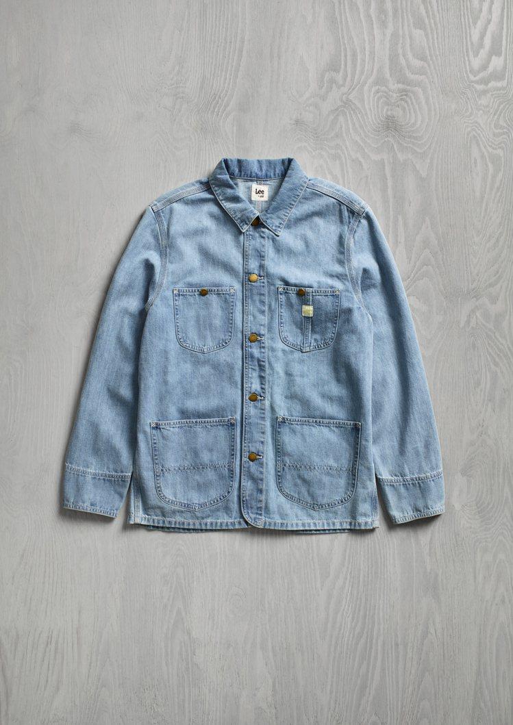 H&M x Lee聯名系列男裝牛仔外套1,799元。圖/H&M提供