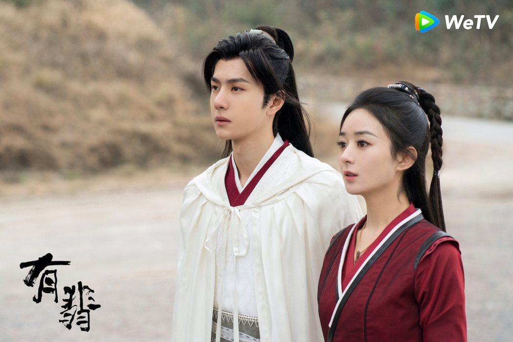 趙麗穎(右)與王一博主演「有翡」。圖/WeTV海外站提供