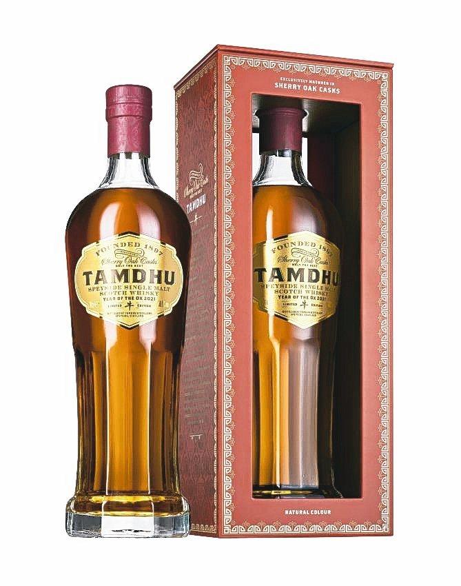 坦杜金牛首款紀念版雪莉桶單一麥芽威士忌限量原酒。坦杜威士忌/提供