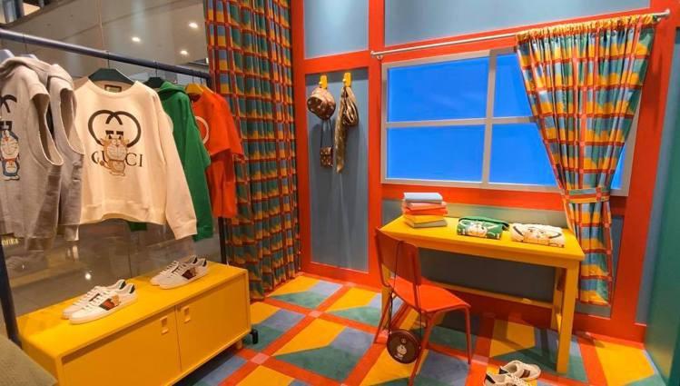 Doraemon x Gucci聯名系列店中店(台北101)。記者吳曉涵/攝影