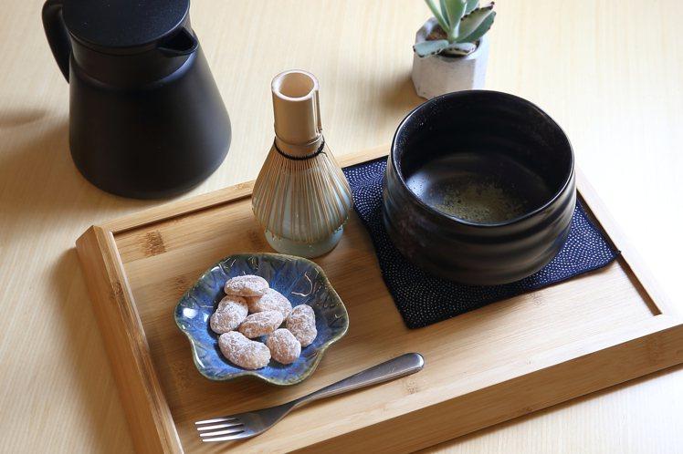 有機綠茶套餐,每份160元。記者陳睿中/攝影