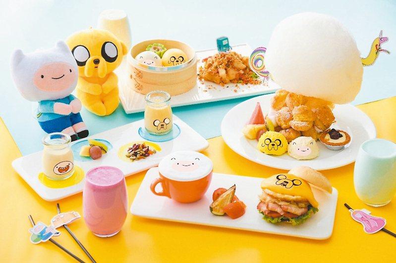 和逸飯店台南西門館推出全台獨家卡通主題午茶,將俏皮的老皮阿寶入菜,用餐更添趣味。 圖/和逸飯店提供