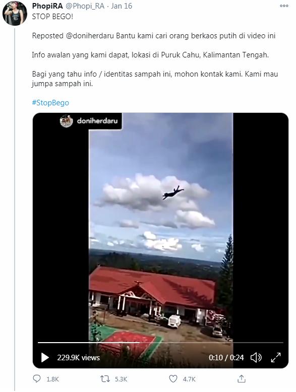 印尼2名少年疑為賺點閱率,在Twitter上傳虐貓過程,他們將貓咪從半山腰拋飛墜