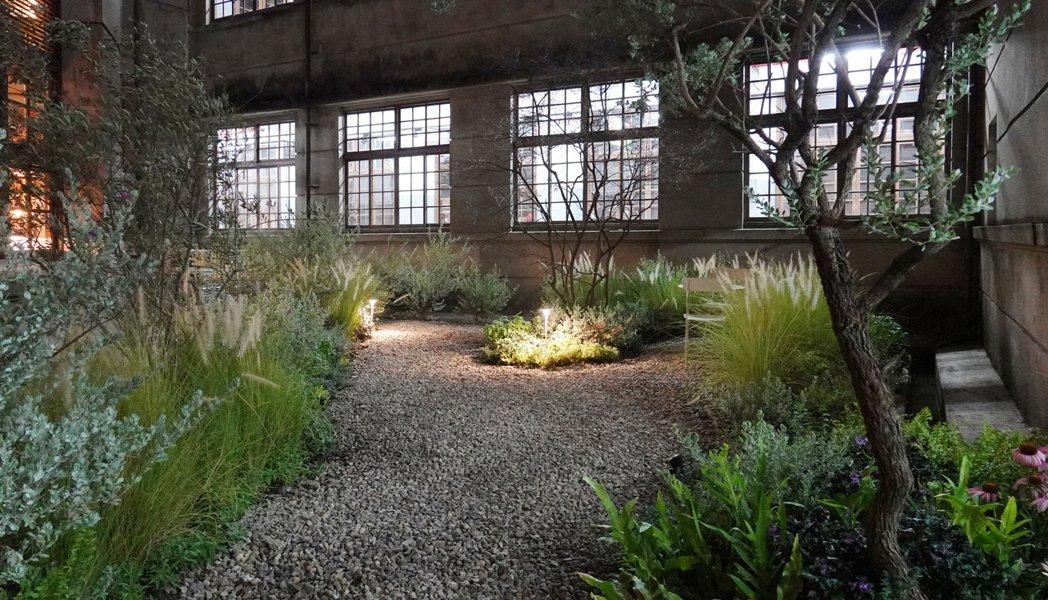 松菸「不只是圖書館」之澡堂花園。圖/太研規劃設計顧問公司提供