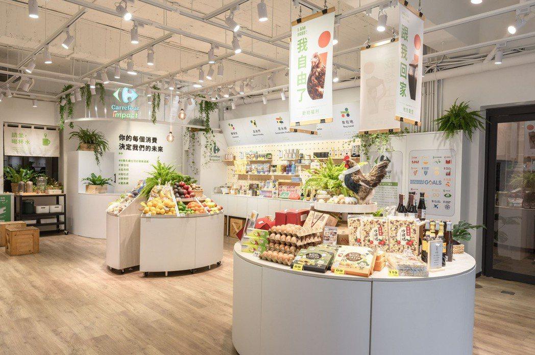 家樂福影響力概念店Carrefour impact與台灣設計研究院共同打造升級版...