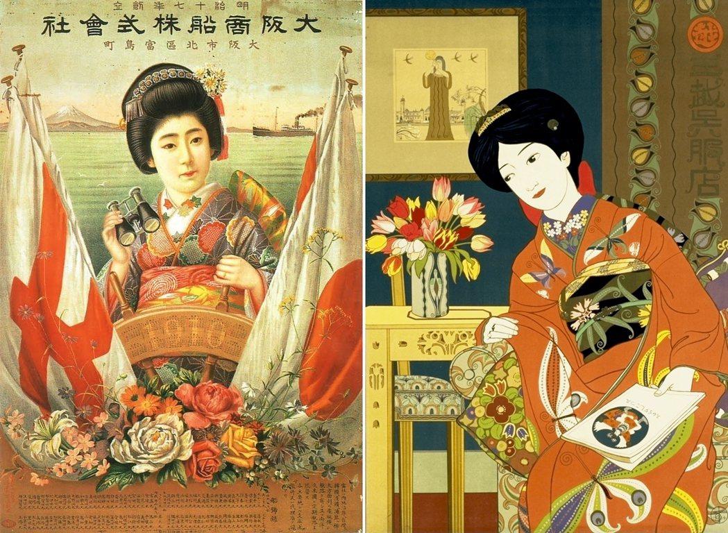 前後只有短短15年的大正年代被視為近代日本的「黃金時期」。大正時期的廣告圖像:左...
