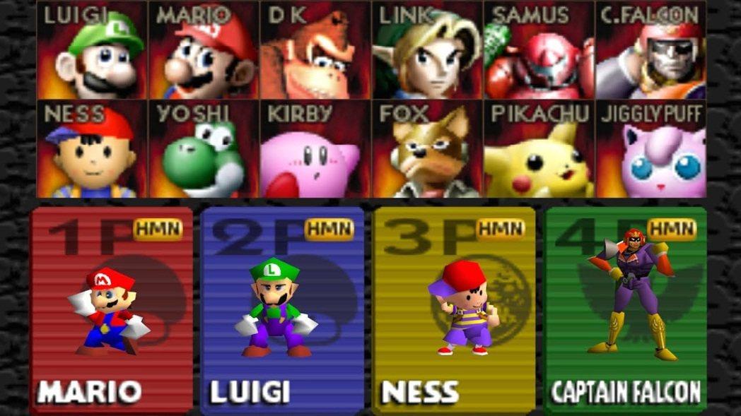 最早的大亂鬥能使用的人物僅有12名(初期8位+隱藏4位)。都是任天堂旗下著名遊戲...