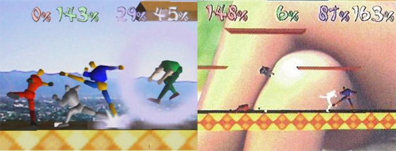 當初格鬥遊戲龍王的構想畫面。