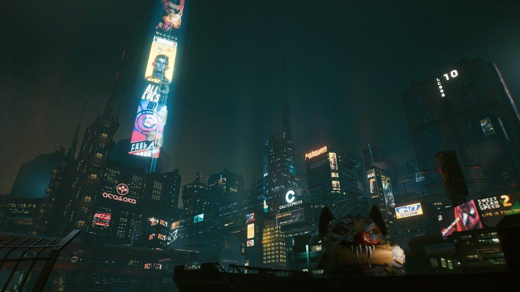 整個黑夜都是賽博龐克的魔幻時刻 圖:擷自《電馭叛客2077》