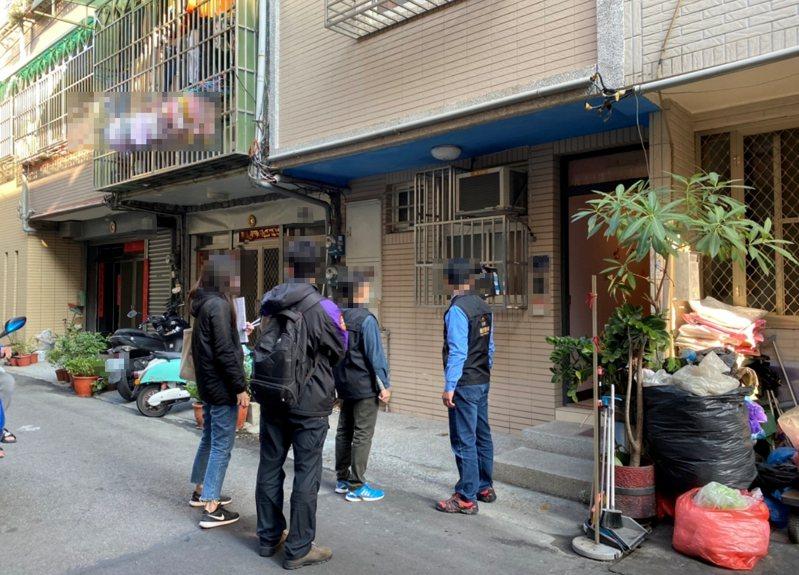 台中市觀光旅遊局加強稽查非法日租套房。圖/台中市府觀旅局提供