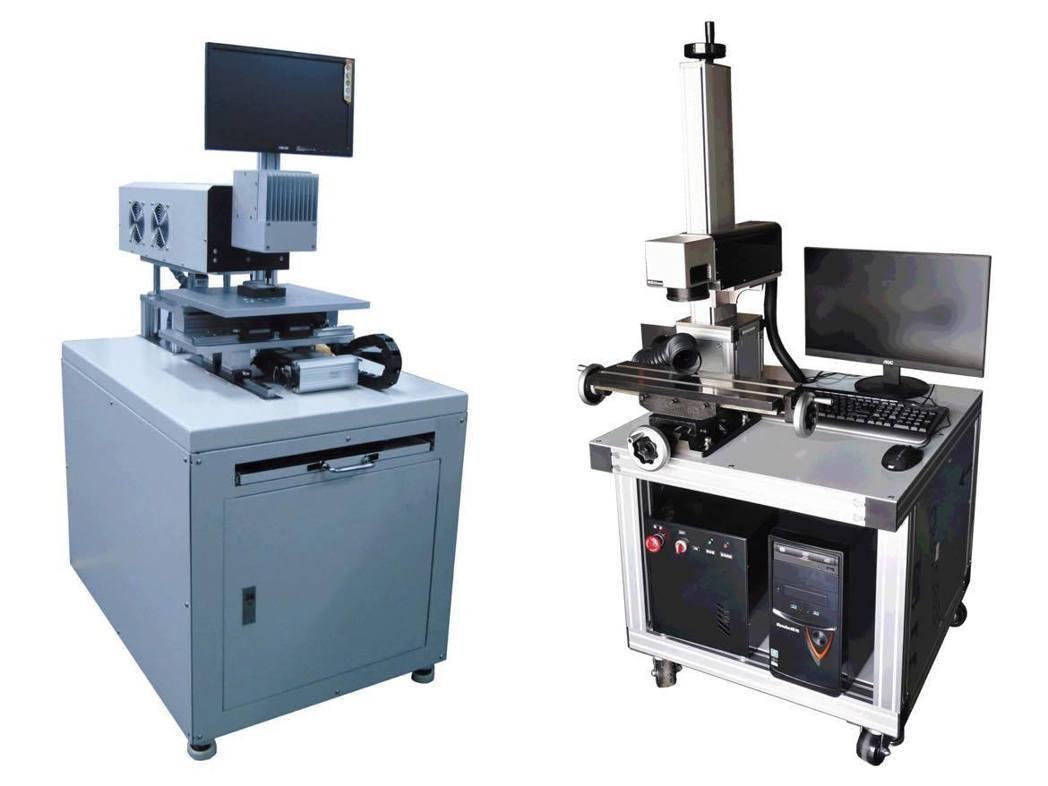 除雷射加工外,勇鼎科技也提供雷射雕刻機並提供技術支援,如CO2雷射雕刻機(左)與...