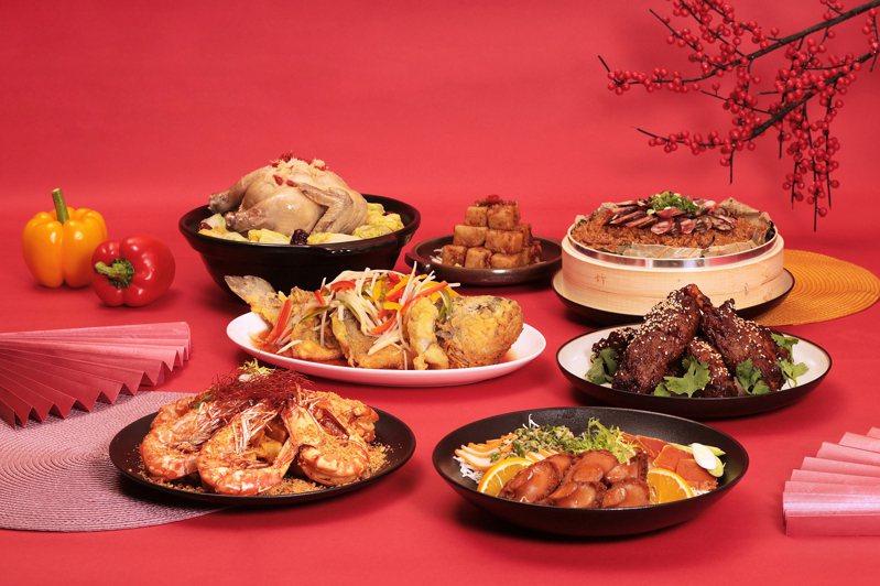 煙波集團也於今年首次推出「煙波星級年菜外帶」,內含七道經典菜式。圖/煙波集團提供