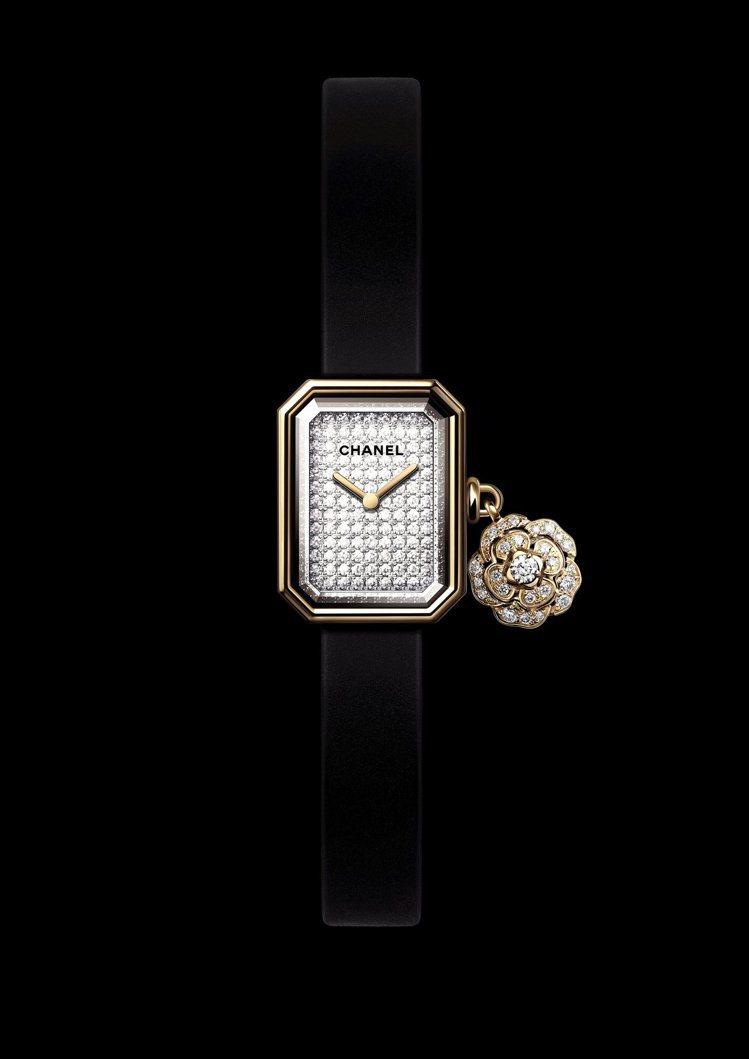 Première Extrait de Camélia腕表,18K黃金、鈦金屬、...