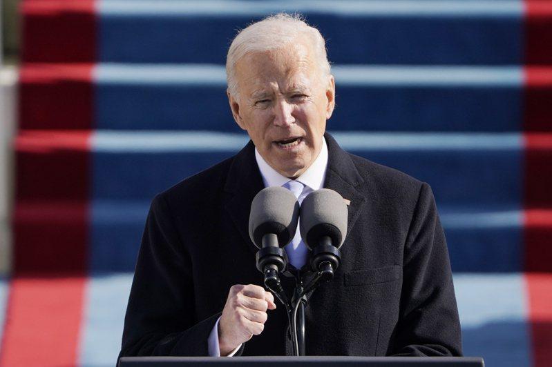 美國總統拜登就職演說中呼籲「美國團結」與恢復「美國精神」。歐新社