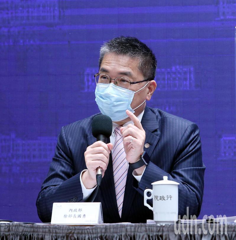行政院昨天舉行院會後記者會,內政部長徐國勇出席說明數位身分證暫緩換發的原因。記者邱德祥/攝影