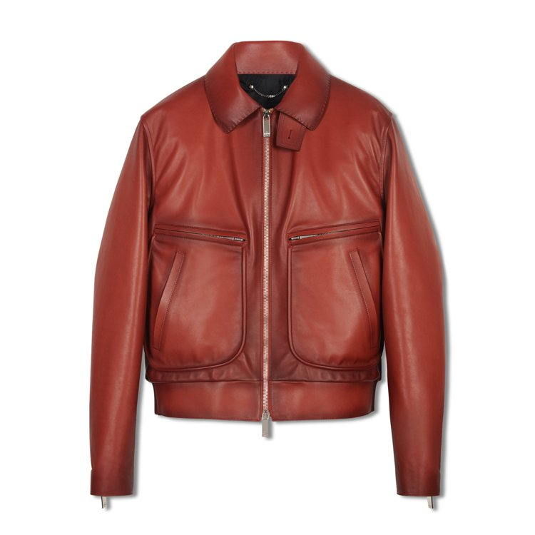 Berluti西爾馬紅色皮革外套,22萬9,000元。圖/Berluti 提供