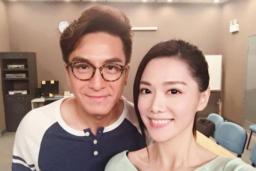 馬國明和女友湯洛雯感情很好。圖/LiTV、TVB提供