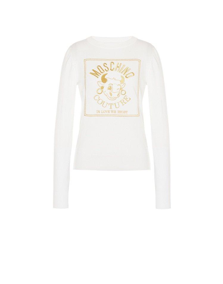 牛年長袖T-shirt,24,300元。圖/MOSCHINO提供