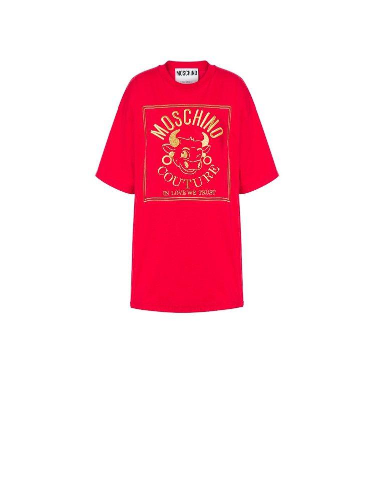 牛年長版T-shirt,11,800元。圖/ MOSCHINO提供