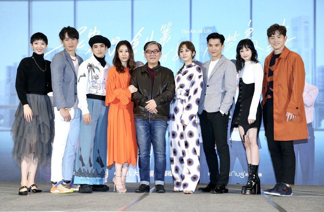 宥勝(右)出席「她們創業的那些鳥事」首映。記者林俊良/攝影