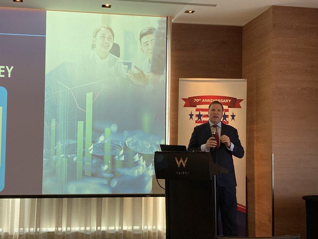 台灣美國商會發布2021商業景氣調查報告,台灣美國商會執行長李豪表示,現在是台灣...