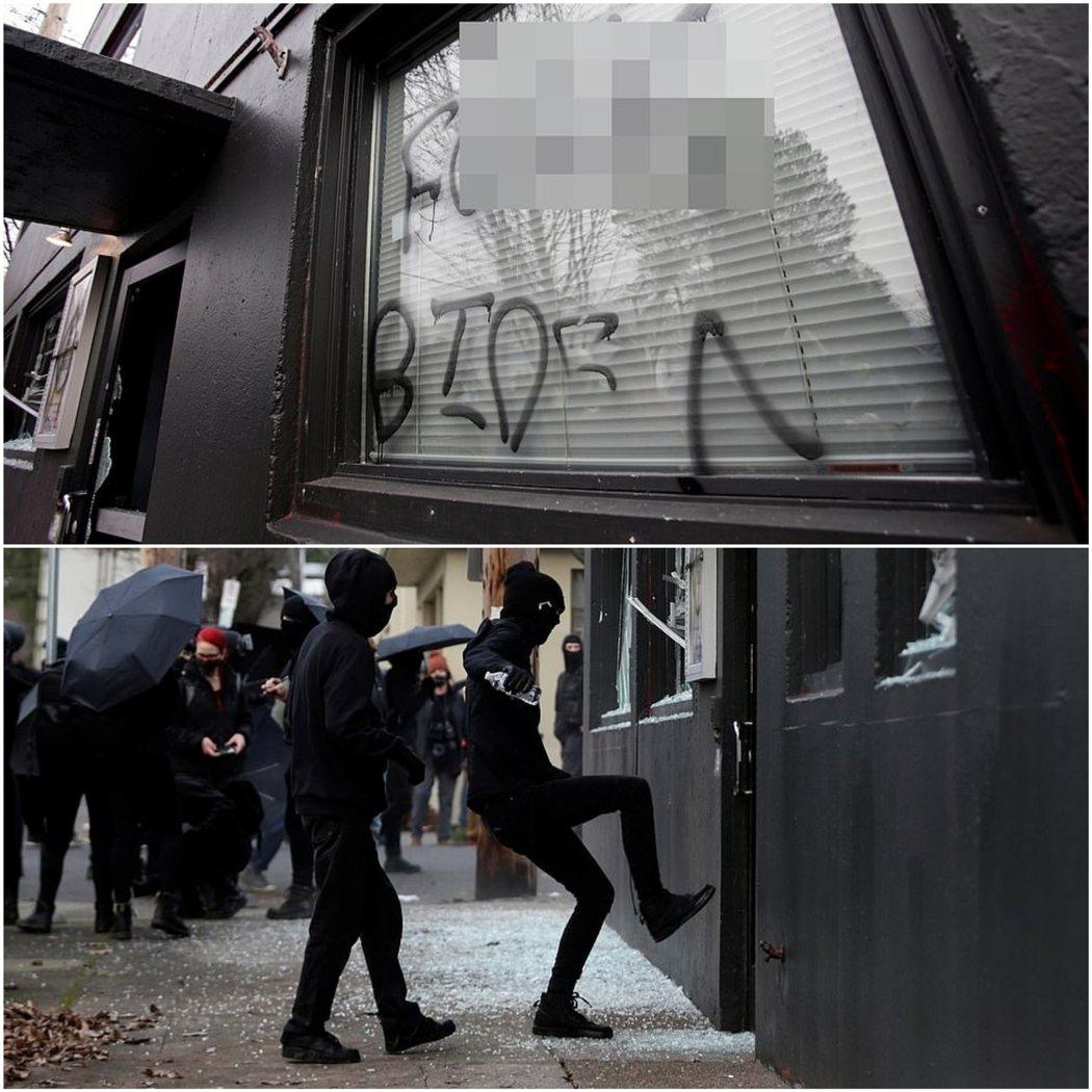美國新總統拜登就職後的幾小時,各州傳出多起示威。俄勒岡州的民主黨總部遭破壞,示威...