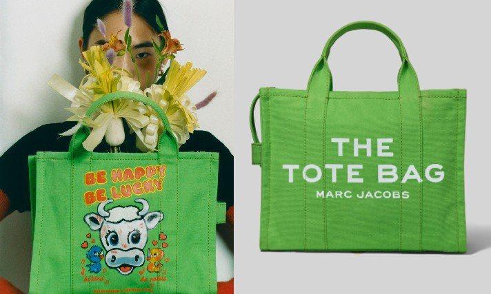 牛年限定的Marc Jacobs X Magda Archer大眼小牛塗鴉系列。圖/俊思提供