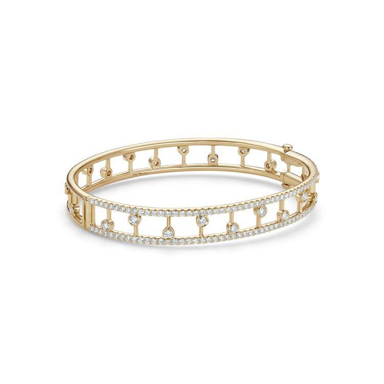 DE BEERS Dewdrop 18K黃金鑽石手環,34萬9,000元。圖/D...
