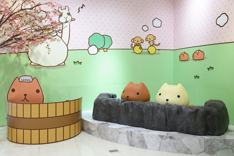 統一時代百貨高雄店「水豚君療癒時光期間限定店」。圖/夢時代提供