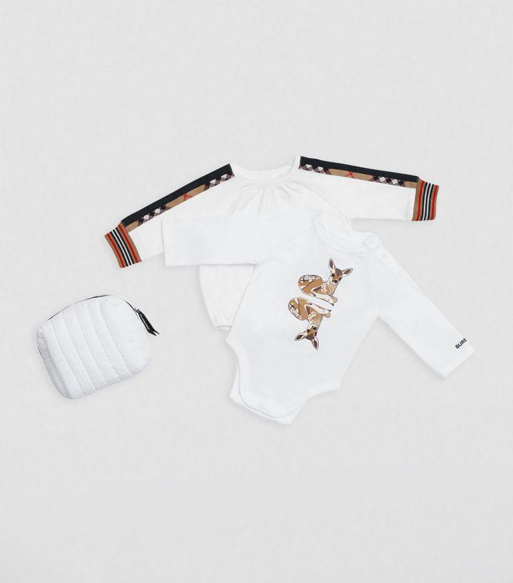 BURBERRY包屁衣套組,8,400元。圖/微風精品提供