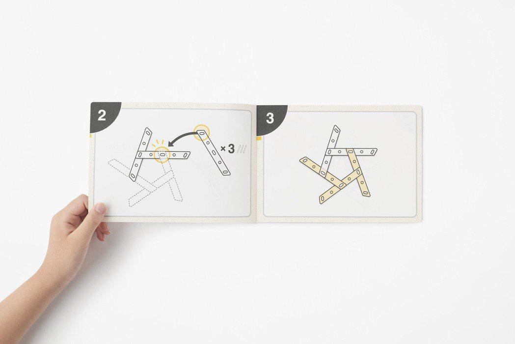 Nendo設計的免充氣足球,附有圖像指示教學。圖/摘自Nendo