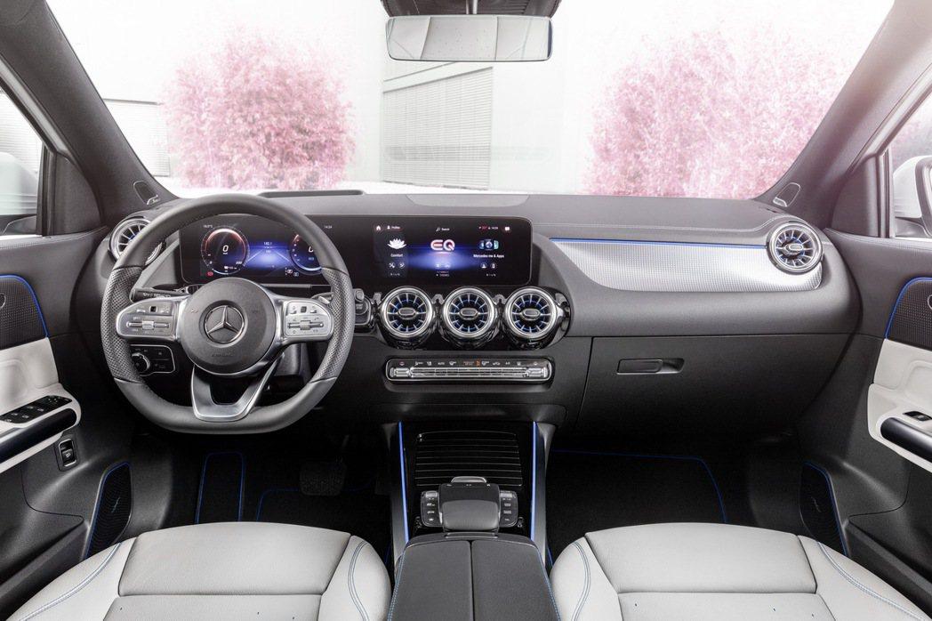 全新Mercedes-Benz EQA的內裝格局與內燃機的GLA相似。 摘自Me...
