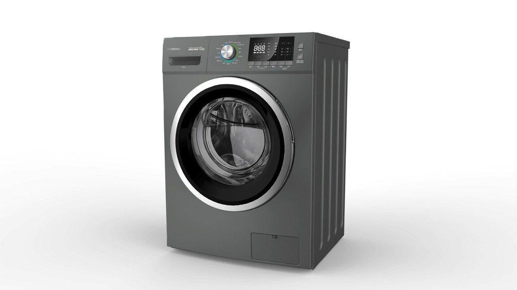 大同變頻溫水洗脫烘滾筒洗衣機(TAW-R122DTG)下殺72折。業者/提供
