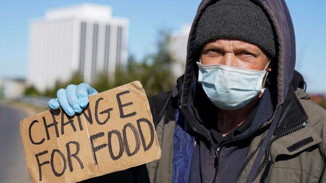 目前美國有5,000萬以上的民眾沒把握能填飽肚子。 路透