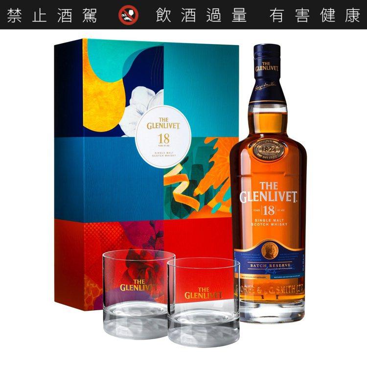 格蘭利威18年單一麥芽蘇格蘭威士忌禮盒,建議售價2,688元。圖/保樂力加提供。...