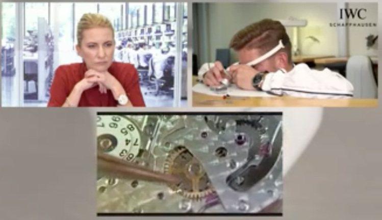 直播中,透過主持人、製表師與數位智慧眼鏡,將能同步觀察到製表師眼中的微距畫面,是...